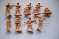 9 Soldaten einteilig Engländer MADE IN ENGLAND evtl. TIMPO