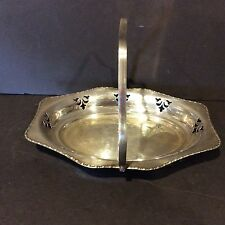 CHELTENHAM & CO LTD SILVER PLATE CUT OUT SERVING TRAY W/ HANDLE - ENGLAND