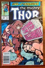 MIGHTY THOR #411 1st Juggernaut NEW WARRIORS  Rare NEWSSTAND!  NICE!