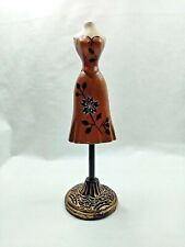 """New listing 8"""" tall Decorative Table Top Wood Mannequin Form Miniature Dress Form Flower"""