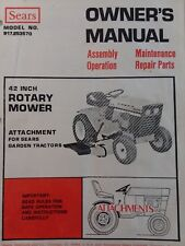 Sears Suburban Lawn Garden Tractor 42 Mower Deck Owner & Parts Manual 917.253570