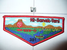 OA Ni Sanak Tani Lodge 381,S-11,1996 Thank You Flap,MGM Chief,Gateway Council,WI