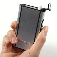 Aluminum Pocket Cigarette Case Automatic Ejection Box Holder Silver