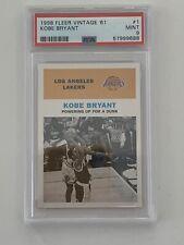 1998-99 Fleer Tradition Vintage '61 #1 Kobe Bryant w/Michael Jordan PSA 9 POP 11