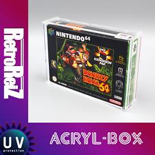 RetroReiZ Acryl Box Case UV Schutz für Nintendo 64 OVP Spiele N64 Schutzhülle