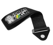 Universal DOMO JDM AS FCK Black Racing Drift Rally Car Towing Strap Belt Hook
