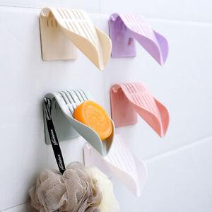Wall-mounted Soap Dish Holder Storage Tray Bath Shower Plate Bathroom Home Tool