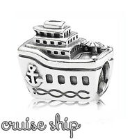 "Pandora Genuine ALE 925 Silver Cruise Ship Charm 791043 Retired ""All Aboard"""