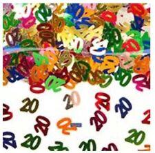 Erwachsene Konfetti aus Metall mit Nummer für Geburtstage