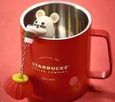 New Starbucks 2020 China Year Of Rat 15oz Fireworks Tea Strainer Lantern Cup Mug