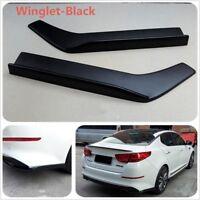 2XCar Bumper Spoiler Canard Diffuser Wrap Angle Shovel Scratch Resistant Winglet