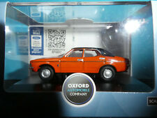 Ford Cortina MkIII 1972 4 door Sunset Red Black Vinyl  1:76 Oxford Diecast New
