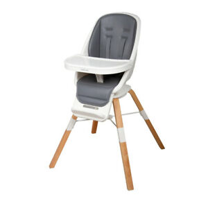 Childcare Cloud 360 Rotating Seat High Chair Modern Wooden Highchair Natural