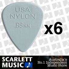6 x Jim Dunlop Nylon Standard Greys .88mm Guitar Picks Plectrums 0.88 Grey