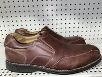 Johnston & Murphy Mens Leather Casual Slip On Loafers Shoes Size 11 M Brown