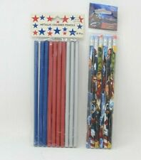 6 Piece Marvel Avengers Pencils and 10 Piece Metallic Colored Pencils