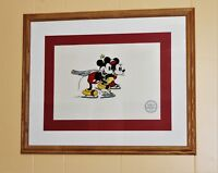 """Limited edition Serigraph Walt Disney Mickey and Minnie """"On Ice"""""""