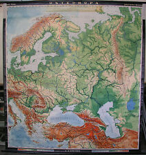 Schulwandkarte Map Eastern Europe Poland Russia Scandinavia 197x210cm 1958