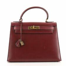 Hermes Kelly Handbag Rouge H Box Ca