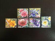 NEW ZEALAND. SET OF SIX 2001 GARDEN FLOWERS  -:-  VERY NICE M.U.H.