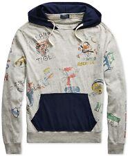***Big & Tall*** Ralph Lauren Polo Cotton Jersey Graphic Hoodie