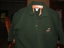 GRANITE LINKS G/C(Boston Ma)GOLF POLO SHIRTw/Deer on Front.LG.By:Anvil.NEW>LQQK>