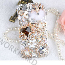 New Girl's Rhinestone Bling Diamond Crystal Clear Phone Back Case cover skin