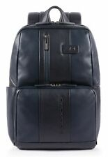 PIQUADRO Urban Computer Backpack Rucksack Tasche Blu Blau Neu