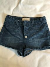 Almost Famous Button Fly Distressed Jean Shorts Women's Size 6