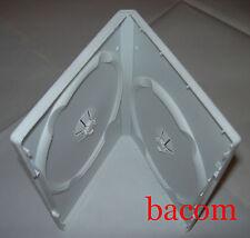 100 CUSTODIE DVD DOPPIE Bianche WHITE BOX porta 2 Dvd/cd QX14BA02 - SPED GRATIS