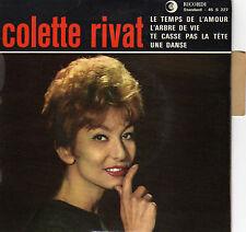 COLETTE RIVAT LE TEMPS DE L'AMOUR FRENCH ORIG EP JEAN CLAUDRIC