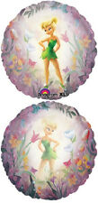 """Tinker Bell Disney Fairy Party Decoration Foil 26"""" Clear Round Mylar Balloon"""