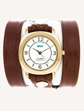 La Mer Brown Gold Odyssey Wrap Watch