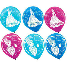 "6 Disney Princess Cinderalla Latex Balloons Girls Birthday Party Decorations 12"""