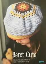 CROCHET PATTERN Childrens Beret Hexagonal Motif Hat Girls Sublime PATTERN