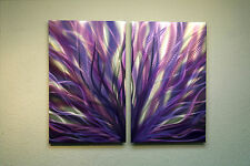 Abstract Metal Wall Art- Contemporary Modern Decor Original Radiance Purple 31