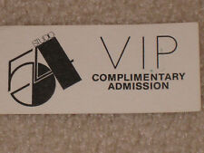 STUDIO 54 ORIGINAL VIP ADMISSION PASS - 1980's