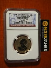 2015 P REVERSE PROOF JOHN F KENNEDY DOLLAR NGC PF69 FROM COIN CHRONICLES SET