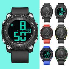 Reloj Digital Ohsen Reloj Deportivo Para Hombre De Silicona LED Alarma relojes Navidad Regalos