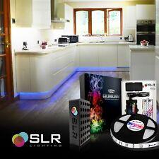 Kitchen Under Cabinet LED RGB Light Strip 16ft SMD 5050 Kit Remote Power