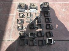 20 ALUMINIUM POOL FENCE BRACKETS AND 3 POOL FENCE POST BRACKETS USED CONDITION