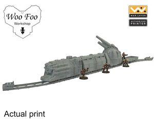 Sci Fi gothic train set 3D printed gaming terrain necromunda, 40K - Warlayer