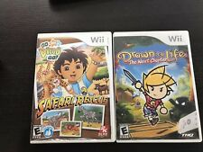 Wii Lot_Go, Diego, Go Great Dinosaur Rescue, Safari Rescue and Drown to Life(A3)