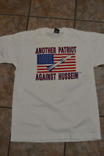 Vintage Men's L Patriot Against Saddam Hussein Screen Stars tag 50/50 Shirt Tee