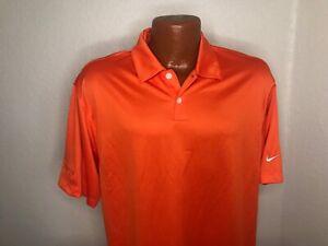 Men's Nike Golf Dri Fit S/S Polo/Golf Shirt Size Medium (M) Orange - Poly