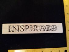 TO INSPIRE JudiKins Rubber Stamp COLLAGE Art Hobby Create Words Text Inspiration