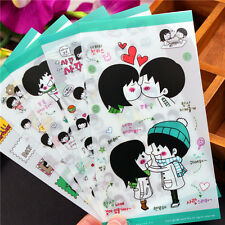 Boy and girl kiss letter paper notebook Scrapbook diary deco PVC sticker 5 sheet