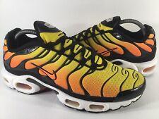 Nike Air Max Plus Tn Sunset Yellow Black Orange White 2014 Mens Size 9.5 Rare