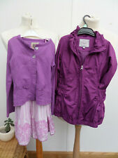 Girls Summer Dress/Cardigan/Coat Jacket  Pink/Purple Outfit Bundle Age 5-6 Years