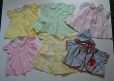 Vintage Baby Dresses Poncho Cradle Togs Tiny Tots Retro Baby Shower Nursery